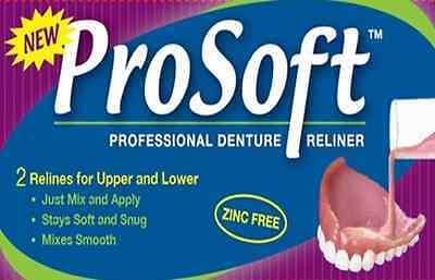 Soft Liner for Dentures - Denture Reliner Kit - ProSoft  -- Reline for 2 Plates! on Rummage