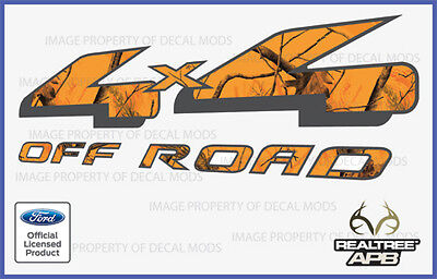 1997-2008 Ford 4x4 Off Road Decal Sticker Set Apb Blaze Realtree Camo Camouflage