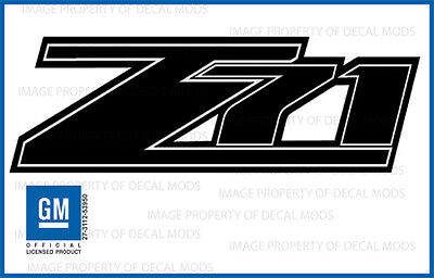 07 - 13 Chevrolet Silverado Z71 Decals - Fblk - 1500 2500 Gm Hd Stickers Chevy