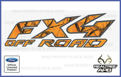 1997 - 2008 Ford Fx4 Off Road Decals Stickers Apb Blaze Realtree Camo Camouflage
