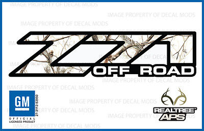 01 - 06 Chevy Silverado Z71 Off Road Decals Realtree Aps Snow Camo Stickers 1500