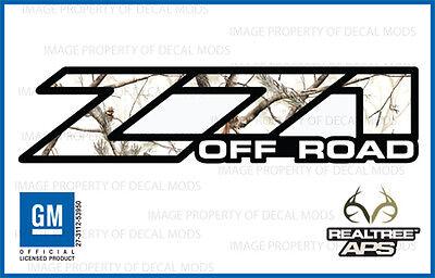 01 - 06 Chevy Silverado Z71 Off Road Decals Realtree Aps Snow Camo Stickers 1500