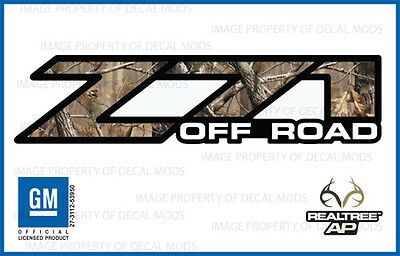 2001 - 2006 Chevy Silverado Z71 Off Road Decals Realtree Ap Camo Stickers 1500