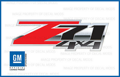 set of 2: 2007 - 2013 Chevy Silverado Z71 4x4 Decals - FSRB 3D - Red Stickers