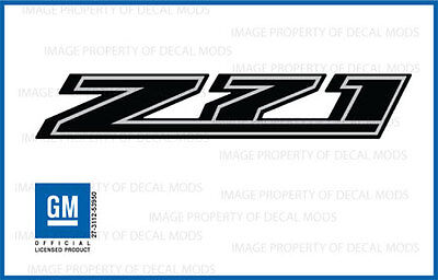 2 - 2016 Z71 Decals - FBLK stickers Parts GMC Sierra Canyon Truck Bed Black Gmc Canyon Truck Parts