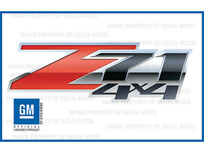 2007 - 2013 Chevy Silverado Z71 4x4 Decals Set - FS 3D - Truck Bed Side Stickers