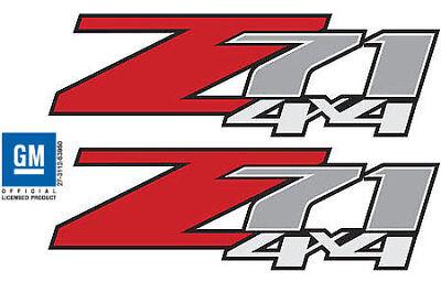 Chevy Z71 Decals (2 - Z71 4x4 Decals Stickers 2007 2008 2009 2010 2011 2012 2013 Chevy GMC -)