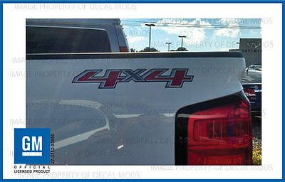 2 - 2016 4x4 Decals - F stickers Parts Chevy Silverado GMC Sierra Truck Bed Side Gmc Canyon Truck Parts
