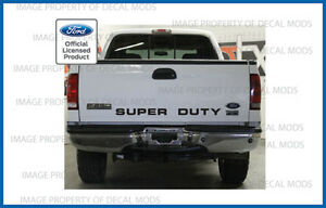 99 - 07 Ford SUPER DUTY tailgate banner - decal sticker letters f250 f350 f450