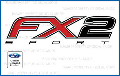 set of 2 2012 2013 2014 Ford F150 FX2 SPORT Decals F Stickers Truck 4x4 Bed Side 2013 Ford F-150 Truck