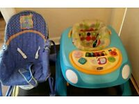Chicco Baby Walker and seat rocker £10