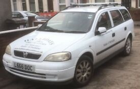 2003 White Vauxhall astra 1.6 valve breaking for parts,engine,gear box,locks etc