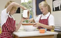 Healthy cooking classes for young girls