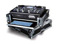 numark hdmix cd usb dj decks, heavy flight case light up keyboard, 80gb hdd + 2 keys used vgood £300