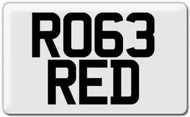 Private Cherished Registration Number Plate
