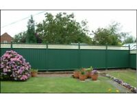 Garden Fencing, guaranteed not to rot warp or peel, no painting or treating