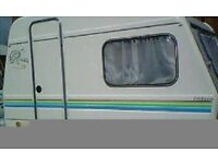 cult light weight touring caravan . jet stream freedom