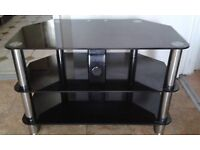 Heavy glass TV stand