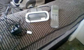 Idect cordless white/Grey phone with answer machine excellent working order