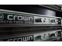 CROWN MACRO TECH 2400 PROFESSIONAL DJ STEREO POWER AMPLIFIER - EXCELLENT CONDITION