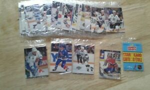 cartes de hockey NHL mini humpty dumpty set complet