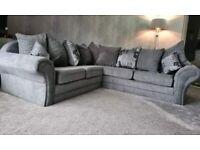 Graphite Grey Corner Sofa