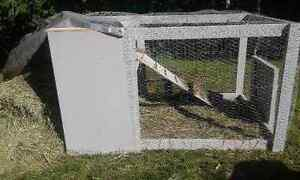 HOMEMADE OUTDOOR RABBIT CAGE