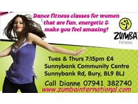 Zumba classes for women of all ages & fitness levels