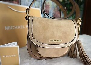 Michael Kors Suede/Leather Crossbody