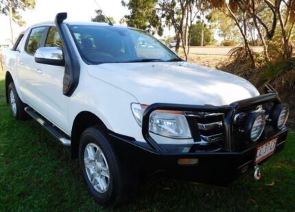 2012 Ford Ranger PX XLT Double Cab White 6 Speed Manual Utility Hidden Valley Darwin City Preview