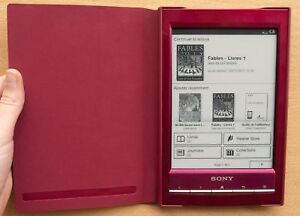 Sony Reader-Standard Cover Red Fits Reader PRS-T1-T2 Case Fol