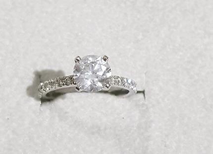 Diamond Engagement GIA 1.67 Carat Round Brilliant F Colour Ring