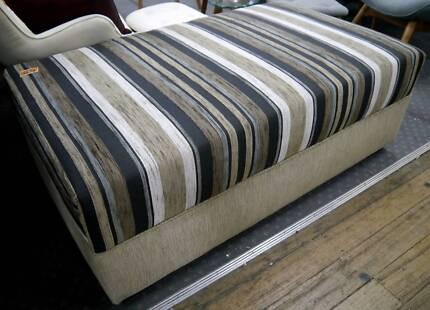 New Lounge Striped Sofa Ottoman Pouffe Footstool Australian Made