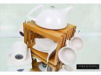 Luxury Illham Blossom Designer 10 Piece Porcelain Espresso / Tea set