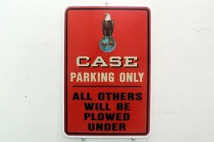 VINTAGE-J-I-Case-Eagle-Logo-Farm-Machinery-Tractor-Metal-Parking-Sign