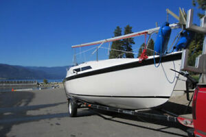 """26' McGregor """"S"""" Sailboat with new engine also includes dingy"""