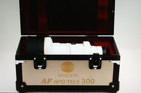 Minolta/Sony AF 300mm High Speed F2.8 APO telephoto prime lens