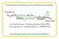 ❤Little Garden Culture Daycare ❤ Fall 18mth to 5yrs❤