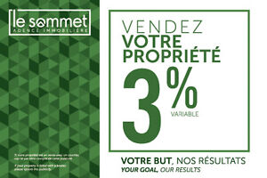 VENDEZ POUR 3%*/SELL FOR 3%*