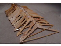 Wooden clothes hangers - 24