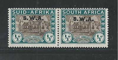South West Africa   B9 Pair   Mlh  Huguenot Museum