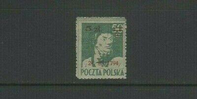 Poland 1945 Koscluszko Oath of Allegiance 5z on 50 Gr Ovpt 1794 Mint MH