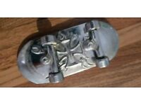 Metal Skateboard Belt Buckle With Moving Trucks and Wheels