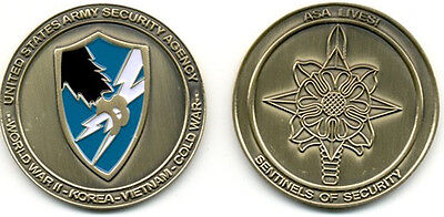 "ASA CHALLENGE COIN!  Army Security Agency - New! LFCF USASA The ""OFFICIAL"" COIN!"