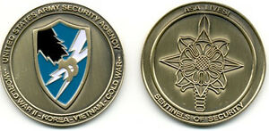 ASA CHALLENGE COIN!  Army Security Agency - New! LFCF USASA The