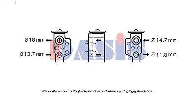 Expansion valve, Air conditioning Audi VW Skoda Seat VAG
