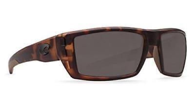 6463afe29f Costa Del Mar Rafael Polarized Sunglasses 580P Matte Retro Tortoise Gray  Wrap
