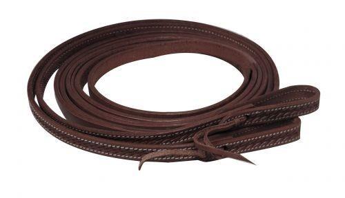 "Showman Argentina Cowhide Leather Western SPLIT REINS 8/' x 1//2/"""