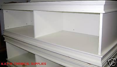 White Retail Display Riser  Mannequin Base Media Floor Cabinet Set 2