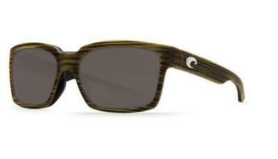2d499d2c5 New Costa Del Mar Playa Polarized Sunglasses 580P Matte Verde Teak  Green/Gray